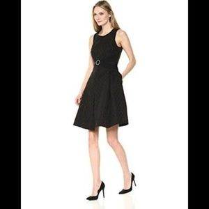 Robbie Bee Jacquard Fit And Flare Dress 12